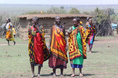 dearth: The Masai women welcome song - Safari Kenya  Editorial