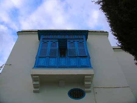 sidi bou said: Blue Balcony in Sidi Bou Said, Tunisia