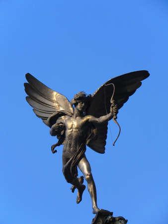 eros: Statua di Eros a Piccadilly Circus - Londra Archivio Fotografico