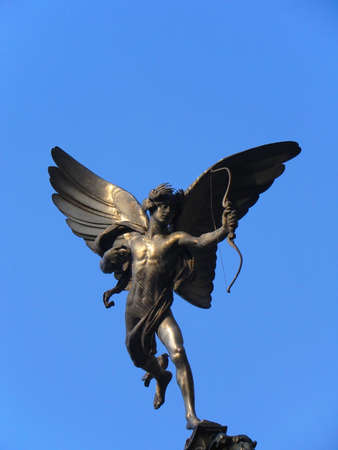 piccadilly: Statue of Eros in Piccadilly Circus - London