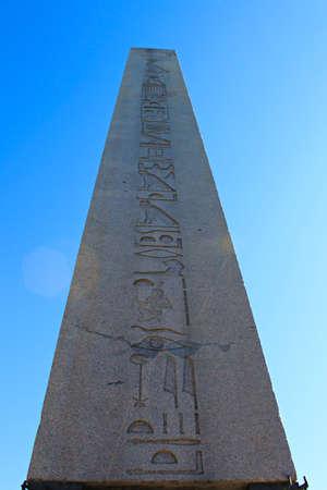 obelisk stone: Obelisk of Theodosius - Istanbul Editorial