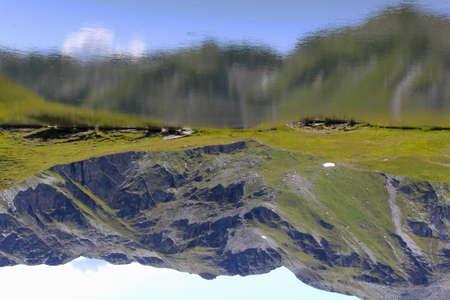 reverse: Mountain Lake Reverse Stock Photo