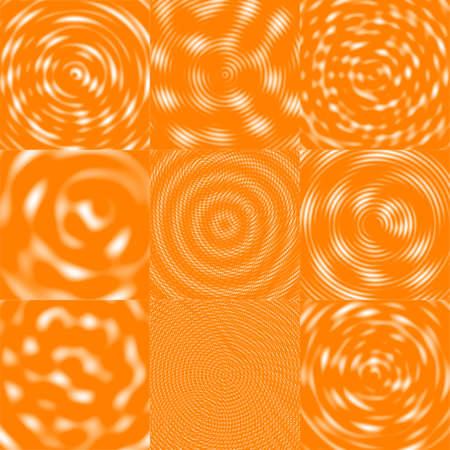 Interfering Waves Background - White & Orange photo
