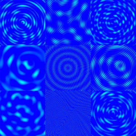 azur:  Interfering Waves Background - Azur & Blue