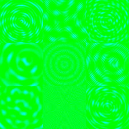 azur:  Interfering Waves Background - Azur & Green