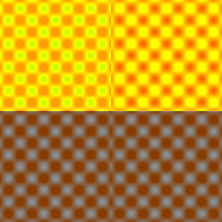 tonal: Checked Grid Circular Blur - Yellow Tonal Shade