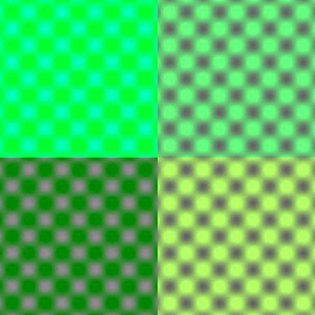 tonal: Checked Grid Circular Blur - Green Tonal Shade
