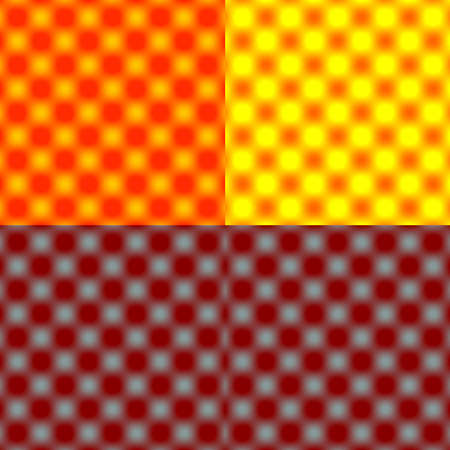tonal: Checked Grid Circular Blur - Red Tonal Shade