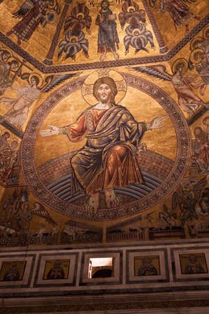 judgement day: Day of Judgement Byzantine Mosaic - Florence Baptistery Dome