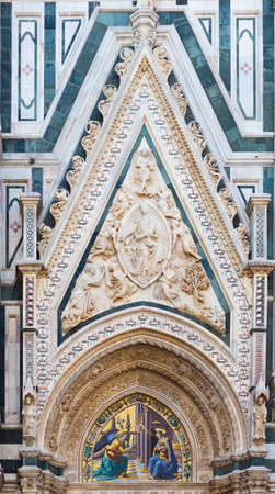 humanist: Carlo Marsuppini Tomb Basilica of Santa Croce - Florence