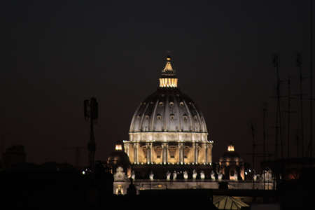 peter's: Bramantes dome on St. Peters Basilica - Rome