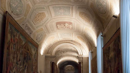 the vaulted: Vatican Vaulted Ceiling Fresco - Rome
