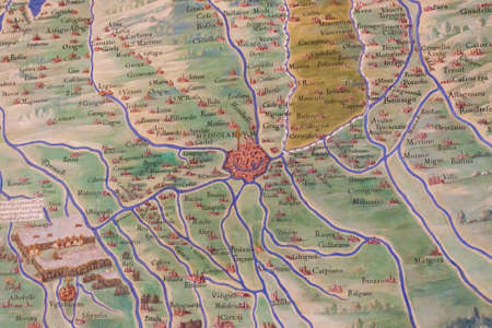 milan: Ancient Map of Lombardy with Milan
