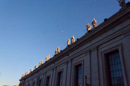 bernini: Piazza San Pietro Bernini Colonnade - Rome Stock Photo