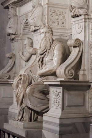 vincoli: Michelangelos Moses Tomb of Pope Julius II - Rome Stock Photo