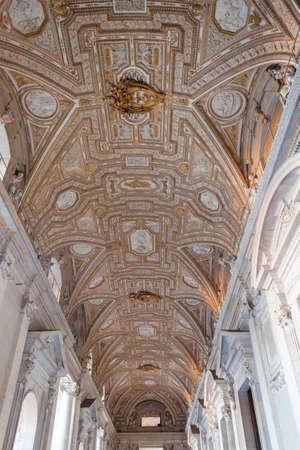 vaulted: Vatican Vaulted Ceiling Fresco - Rome