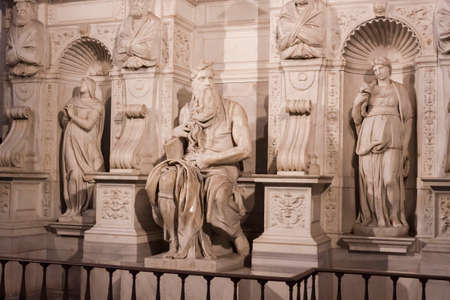 vincoli: Michelangelos Moses Tomb of Pope Julius II - Rome Editorial
