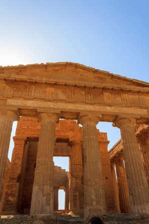 agrigento: Greek Temple of Concordia in Agrigento - Sicily, Italy