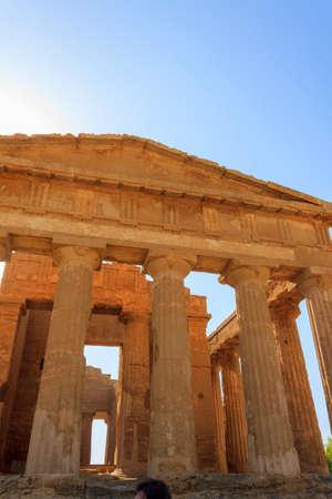 concordia: Greek Temple of Concordia in Agrigento - Sicily, Italy