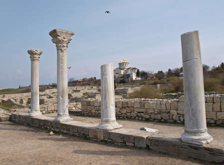 foundation cracks: Chersonese, ancient Greek settlement in Crimea. This is the ruins of the city.