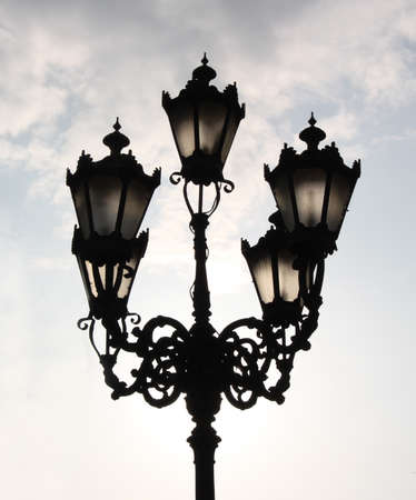 castings: In Lviv, a lot of old lamps  They adorn the city