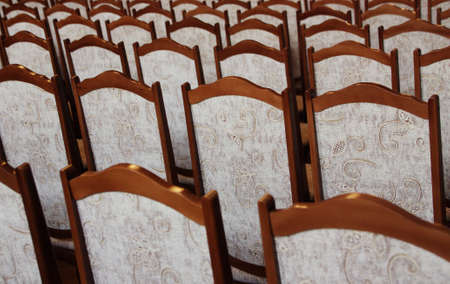 chernivtsi: The chairs in meeting room of Chernivtsi National University  The picture was taken at most brightly lit