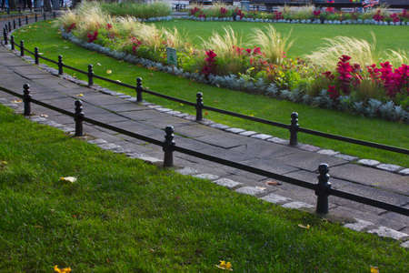 implemented: The original design solution implemented in the seaside town of Sopot park.