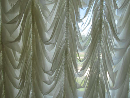 airiness: Curtains in the office of Count Razumovsky.