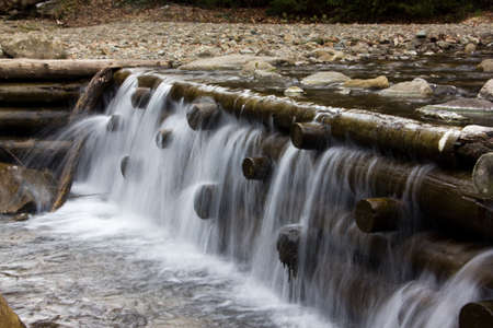 seething: This waterfall is formed on a mountain river