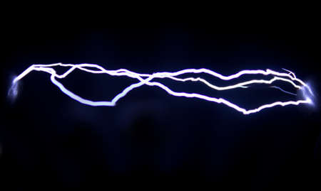 This Spark discharge created in the air. Is used to observe the phenomenon. Standard-Bild