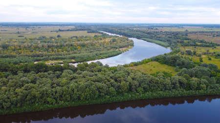 View of the Desna River near the city of Chernigov The Desna River originates in Russia and flows into the Dnieper near Kiev.