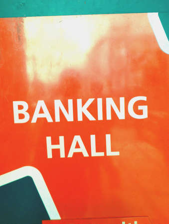 bankers: Directions for entry into bank hall