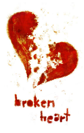valentino: Heart falling to pieces. (hand drawn - raster)