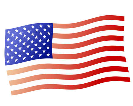 Waving United States flag (illustration) Vector