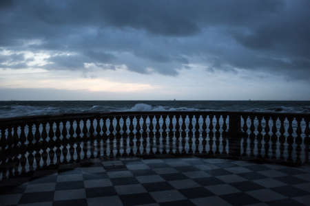 Sea Landscape From Terrazza Mascagni, Livorno, Tuscany Stock Photo ...
