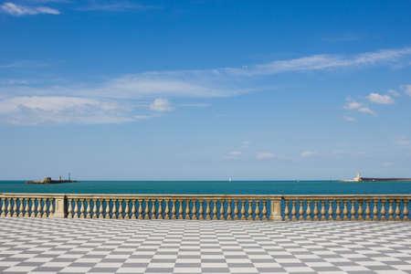 leghorn: Sea landscape from Terrazza Mascagni, Livorno, Tuscany Stock Photo