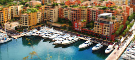 View of Montecarlo with tilt shift lens effect