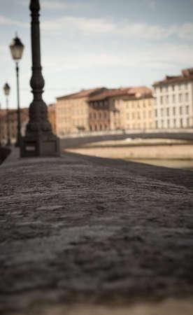 arno: Pisa panorama on the Arno River. Pisa, Italy