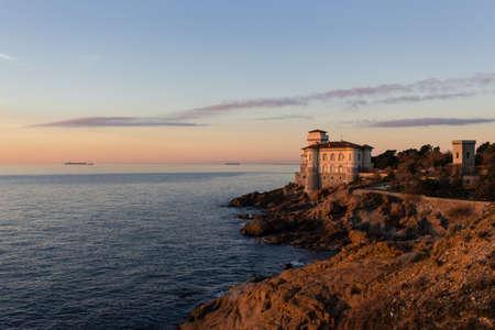 livorno: Beautiful view of the mediterranena coast in Livorno, Tuscany, Italy Stock Photo