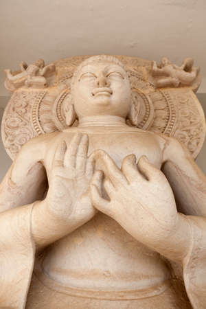 shanti: Image of Buddha from the Dhauli Shanti Stupa, Bhubaneswar, India Stock Photo
