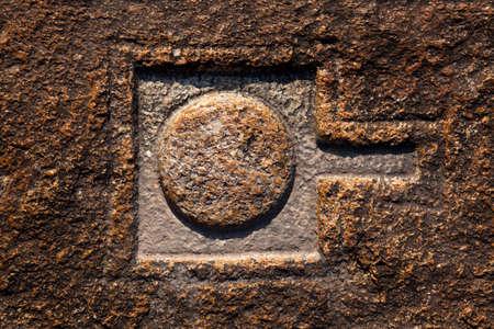 linga: Linga carved into the rocks in Hampi, India