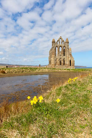 north yorkshire: Whitby Abbey in North Yorkshire, England. Stock Photo