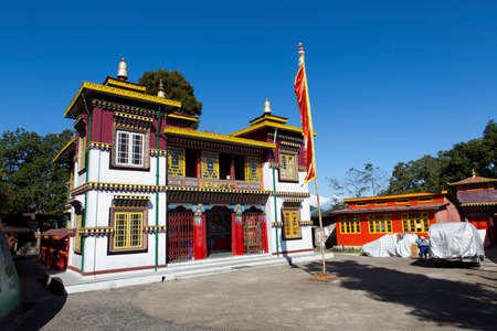 tetona: Bhutia Tetona Gompa Darjeeling, India. Foto de archivo