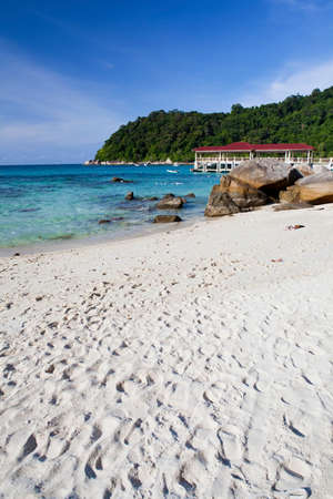 perhentian: Perhentian islands - Foot prints in the sand