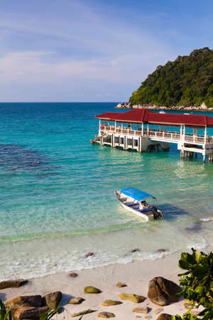 perhentian: Tropical jetty on the Perhentian Islands, Malaysia.