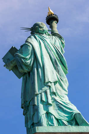 The Statue of Liberty in New York City, America.