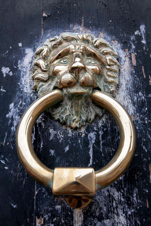#66091442   Lion Head Door Knocker, Ancient Knocker