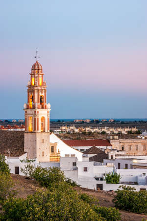 morning blue hour: Tower of the Church of the Savior, Ayamonte