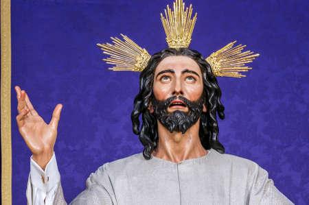 fraternidad: Imagen de Jesucristo de la Semana Santa de Sevilla. Hermandad de la Cena. La imagen es en el culto de los devotos