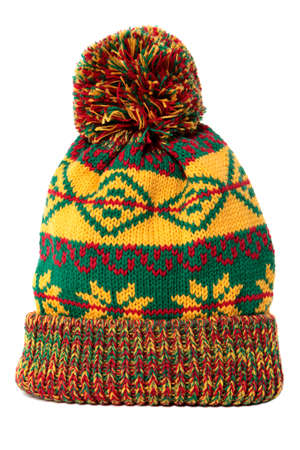 Bobble hat isolated against a white background.